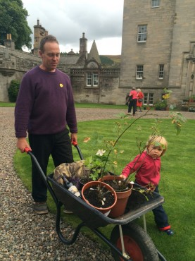 Glen Residents, Martin and Monica find some plant sale bargains